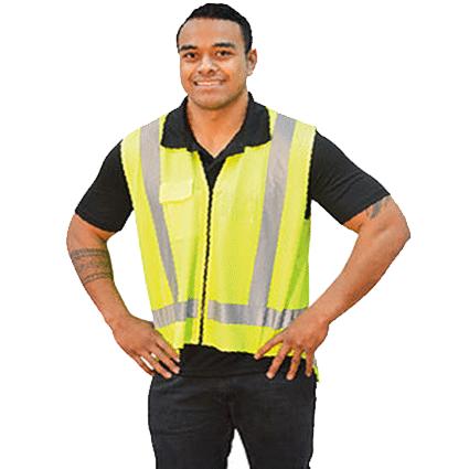 vêtement gilet jaune bande réfléchissante sécurité personnalisé