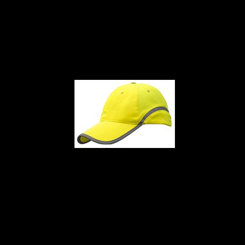 casquette réfléchissante jaune sécurité visible nuit personnalisé