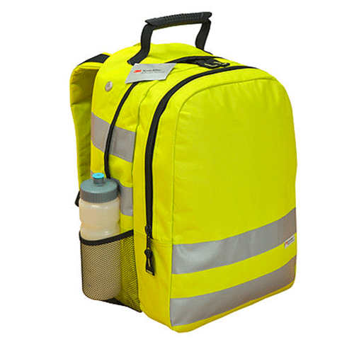 sac à dos réfléchissant jaune visible nuit sécurité vélo personnalisé
