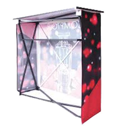 stand comptoir publicitaire personnalisé Nouméa