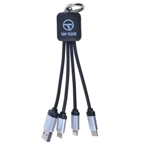cable chargement quatre branches personnalisé