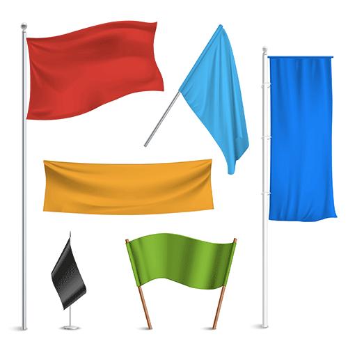 drapeau publicitaire personnalisé Nouméa