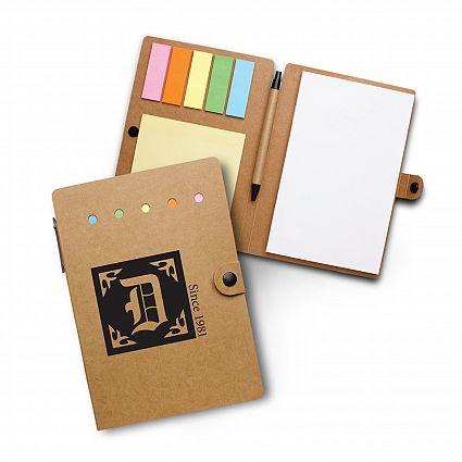 Carnet Post-it note autocollante personnalisé 5 couleurs avec stylo